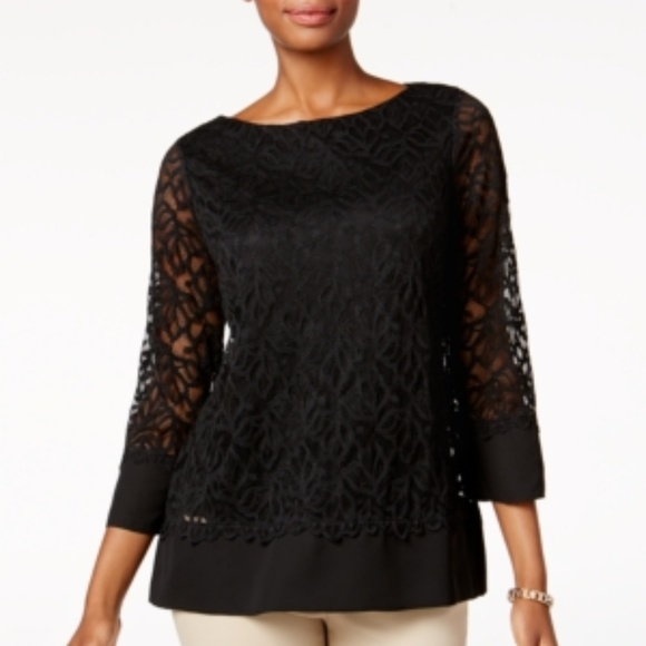 Charter Club Tops - [002]Charter Club Lace Top
